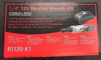 "Ingersoll Rand 1/4"" 12v Ratchet Wrench Kit Cordless"