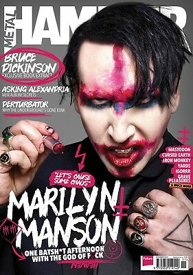 Metal Hammer magazine MARILYN MANSON November 2017 #302