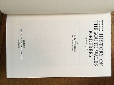 The History Of The South Wales Borders 1914-1918