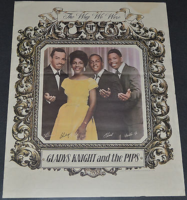 GLADYS KNIGHT AND THE PIPS 1975 ORIGINAL 18x24 PROMO POSTER! THE WAY WE WERE