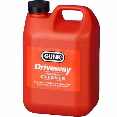 Gunk Cleaner Oil Stain Remover Driveway Garage Floor Patio Paths Cleanse 2 Litre