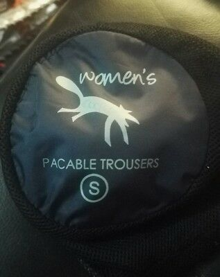 ladies water proof trousers in pouch size 10-12