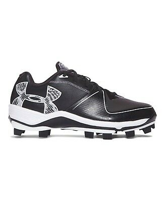 (9.5 Medium US, Black/Black) - Under Armour Women's Glyde 2.0 TPU Softball