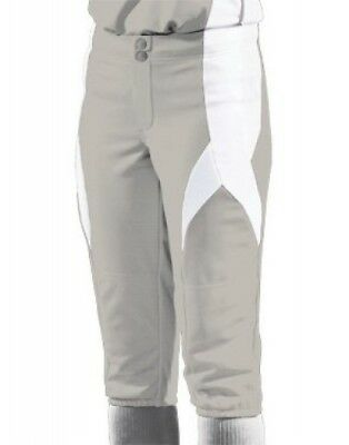 (Medium, Silver/White/White) - Women's Stinger Softball Pant. Teamwork