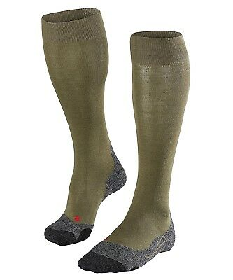 (42-43, Olive) - Falke TK2 Long Men's Walking Socks, Men, FALKE Wandersocke