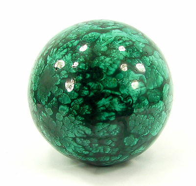 1771.00 Ct Natural Green Malachite Gemstone Sphere Ball Healing Crystal - 10256