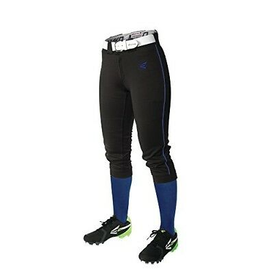 (X-Small, Black/Royal) - Easton Women's Mako Piped Pants. Free Delivery