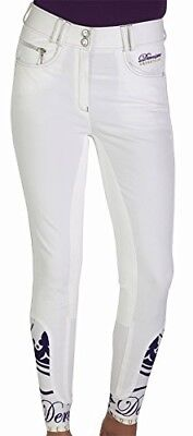 Derriere Equestrian Ladies Cannes Competition Breeches White 24. Brand New