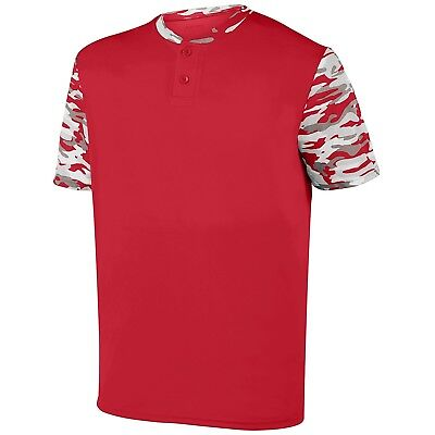 (Medium, Red/Red Mod) - Augusta Sportswear Boys Pop Fly Jersey. Delivery is Free