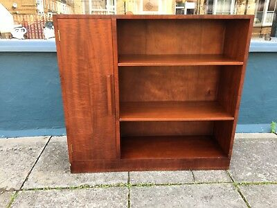 Mahogany adjustable bookcase with cupboard to side #1535