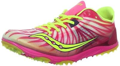 (9.5 B(M) US, Pink/Citron) - Saucony Women's Carrera XC Cross-Country Shoe