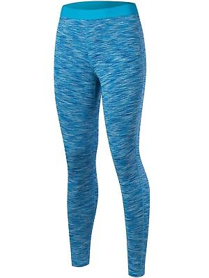 (Large, Heather blue) - Lavento Women's Compression Pants Cool Dry Running
