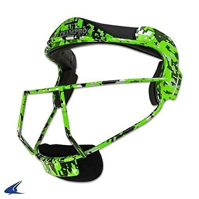 "(Adult - 6 ¾ - 7 ½, Lime Camo) - ""The Grill"" Defensive Fielder's Face mask for"