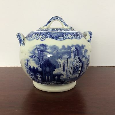 George Jones Abbey pattern sugar bowl with cover, c 1920s, perfect condition.