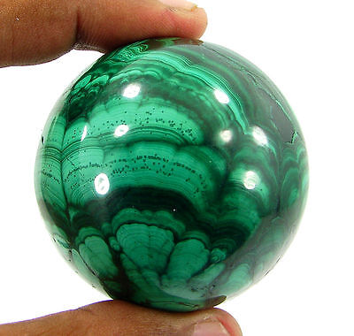 1621.00 Ct Natural Green Malachite Gemstone Sphere Ball Healing Crystal - 10253