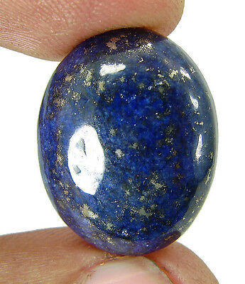 24.65 Ct Natural Oval Cab Blue Lapis Lazuli Gold Flakes Loose Gemstone - 6168