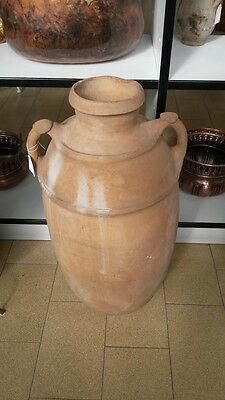 Antique Original Amphora Pitcher Oil VINO clay end '800 south-italy
