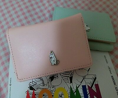 Moomin Valley Character Moomintroll Pink 3 Fold Wallet card Holder