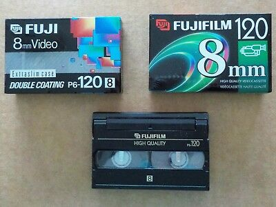 8mm Camcorder Video tapes P6-120 3 Cassettes 2 New Blank sealed 1 not sealed