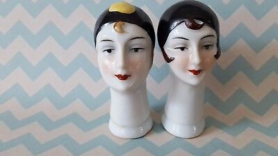 "Art Deco Dressel & Kister  Style ""Pierrot And Pierrette"" Clown Pin Cushion Dolls"