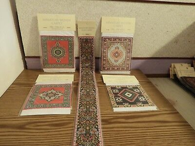 4x new Dolls House rugs 1x stairs Turkish Carpet 1.12th scale lot 62