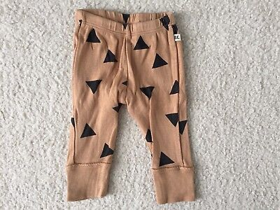 Bobo Choses Infant Baby Boy Brown Pants Size 3-6 Months