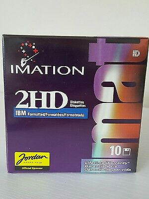 """NEW Imation sealed 10x Diskettes 1.44 MB IBM formatted 2HD 3.5"""" Disks"""