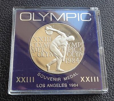 1984 Olympic Games - Los Angeles Souvenir Medal & Case