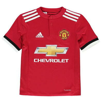 adidas Manchester United Kids Home Kit 2017/ 2018,8-9,10-11