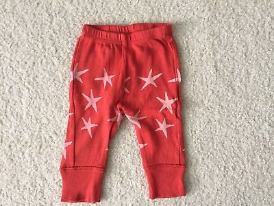 Bobo Choses Infant Baby Boy Red Pants Size 3-6 Months