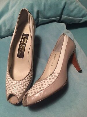 Bally Suisse Russell & Bromley Vintage Peep Toe Shoe