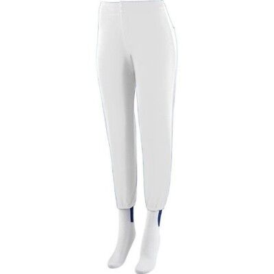 (Adult 2XL (37-39), White) - Girls/Women's Softball Low Rise Pants Ladies Fit