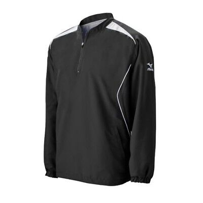 (X-Large, Black) - Mizuno Boy's Youth Prestige Long Sleeve with Pockets G2