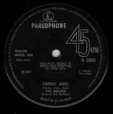 Carrie Anne : The Hollies