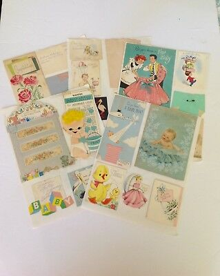 Vintage Greeting Card Lot of 50+ Cards 1950's, 1960's & 1970's