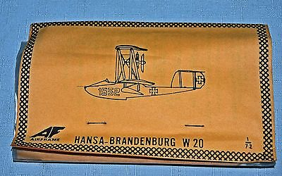 Vintage unopened Vacform pack by AIRFRAME of the Hansa-Brandenburg W 20 1/72