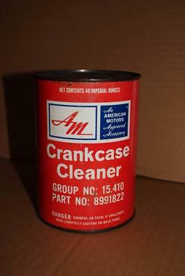Vintage AM American Motors Canada Crankcase Cleaner Imperial Quart Oil Tin Can