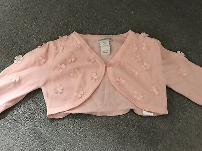 Lovely Pink Monsoon Cardigan 6-12m