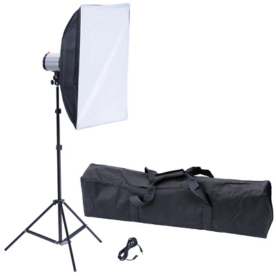 "120 W/s Photography Photo Studio Flash Light Kit with Softbox 20"" x 28"" & Tripod"