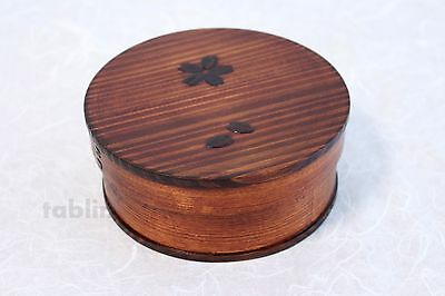 Japanese Bento Lunch Box Magewappa Round lacquering natural wood New