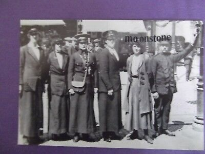 Old Postcard Of The First Tram Conductresses In Coventry..