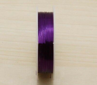 NEW 23M purple Special Copper Wire craft wire bead wrap jewelry making