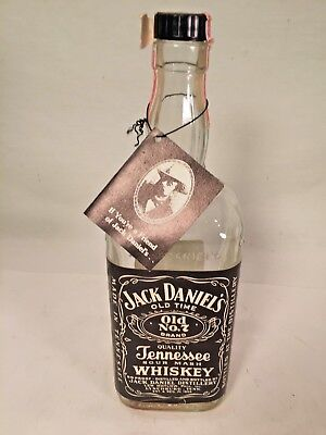 Vintage Jack Daniels 1 Liter Bottle with Tag - Empty