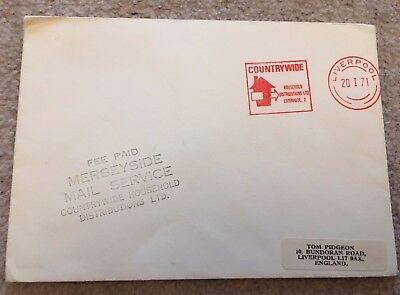 Gb 1971 Postal Strike Great Britain Fee Paid Cover Mersyside Mail Liverpool