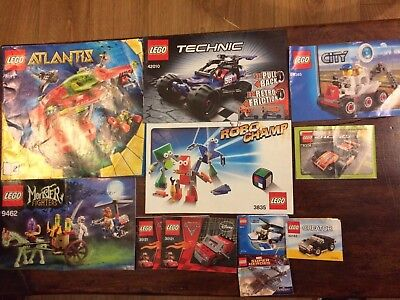 11 Lego Instruction Manuals (various)