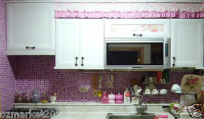 Modern Customized Purple Mosaic Waterproof Environmental Oil-proof Wallpaper