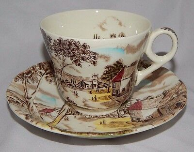 W H Grindley SUNDAY MORNING Staffordshire cup and saucer