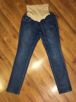 "Jessica Simpson Maternity Skinny Jeans Size Large -  30"" Inseam Full Panel - EUC"