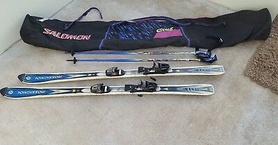 Rossignol 160cm Combi Skis with ski poles Used condition