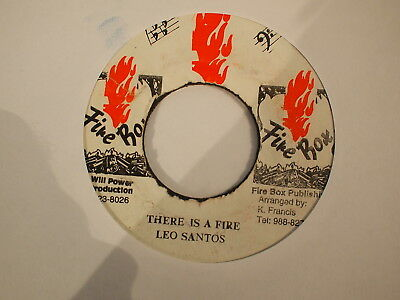 Leo Santos - There's A Fire - Firebox Records 1980S